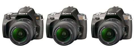 Da Sony un tris di DSLR entry-level