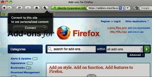 Mozilla Account Manager