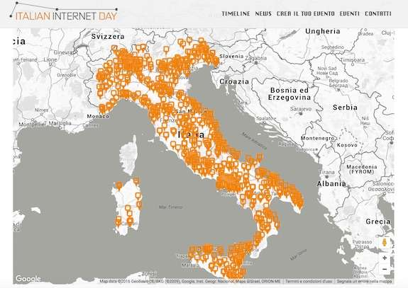 le iniziative dell'italian internet day