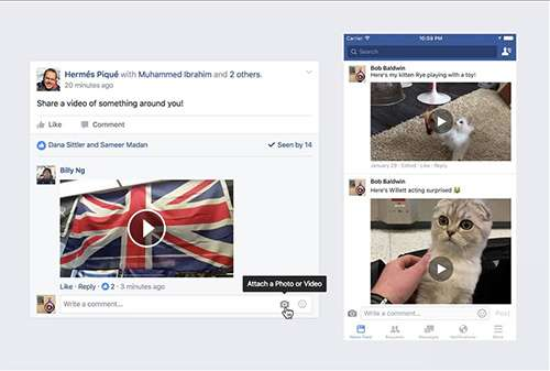 commenti video su facebook