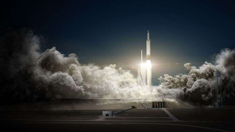 Il vettore Falcon Heavy di SpaceX