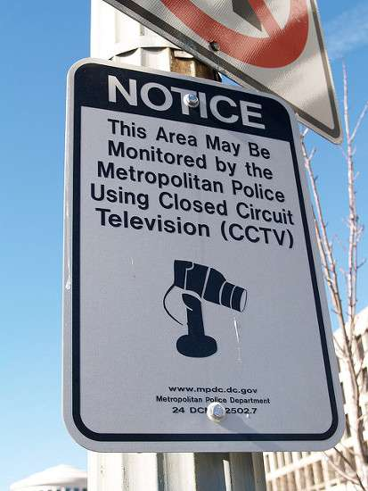 CCTV Notice At The Corner Of Constitution Avenue, NW & Louisiana Avenue, NW (Washington, DC) by takomabibelot (CC BY 2.0)