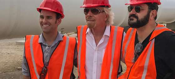 Richard Branson e ingegneri Hyperloop One