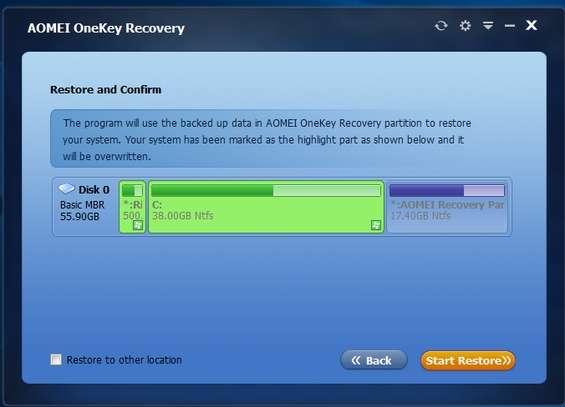 AOMEI OneKey Recovery | Download e installazione