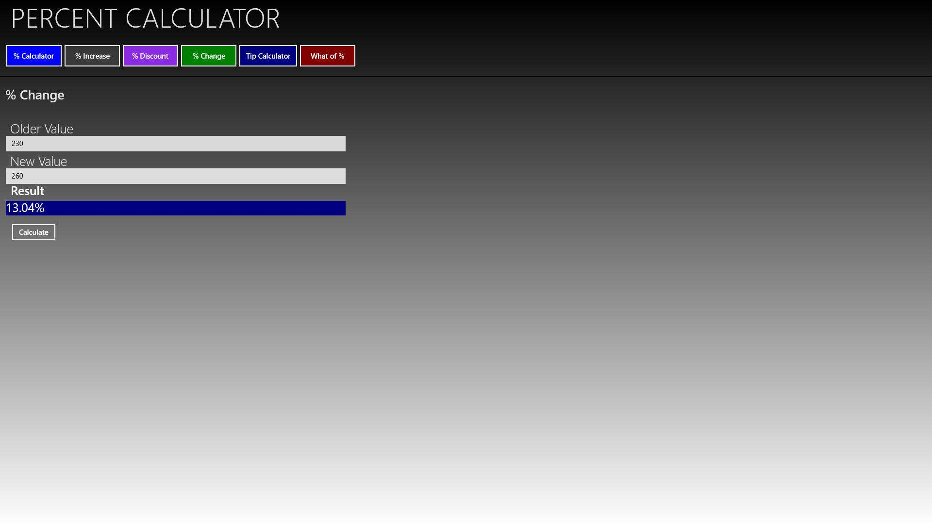 Percent Calculator 8 Download E Installazione