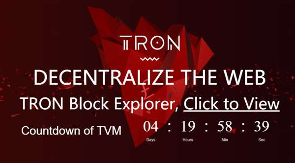 TRON vuole decentralizzare il Web