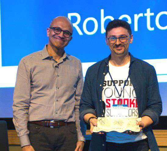 Satya Nadella e Roberto D'Angelo, Ability Award 2015