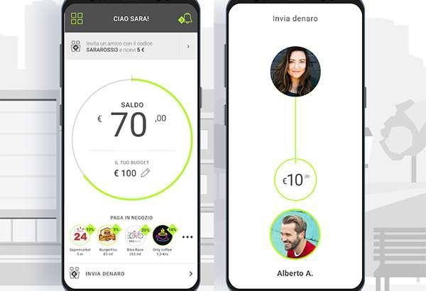 Screenshot per l'applicazione Bill nella sua versione Android