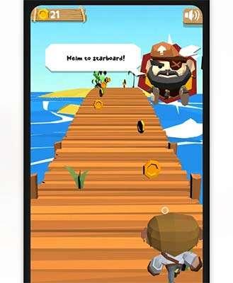 Il gioco Go Pirate incluso nell'applicazione Colgate Connect