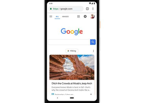 Discover diventa parte integrante della homepage di Google accessibile da dispositivi mobile