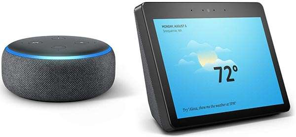 Amazon Echo Dot e Amazon Echo Show