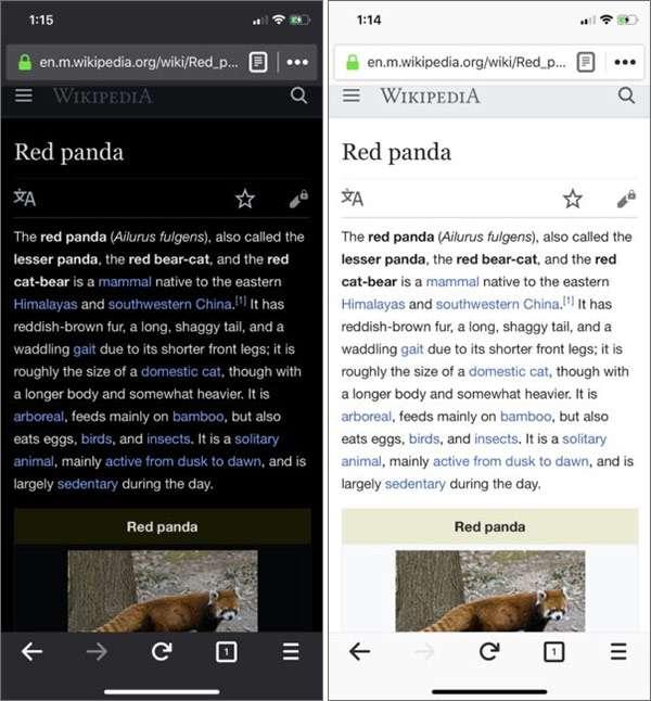 Le opzioni di personalizzazione introdotte da Mozilla nella versione 62 del browser Firefox su iOS