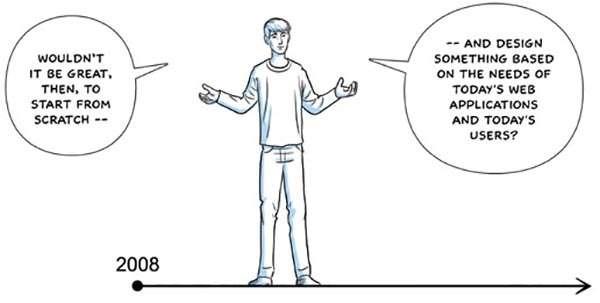 Un estratto dal fumetto realizzato da Google per comunicare l'arrivo di Chrome