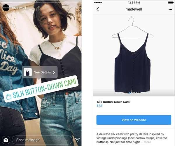 Lo shopping nelle Storie di Instagram