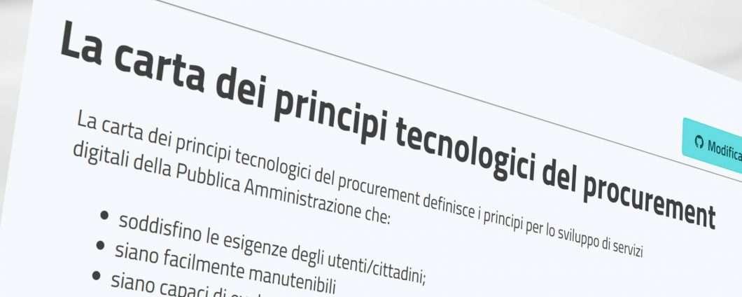 Piacentini, fissiamo i principi del procurement