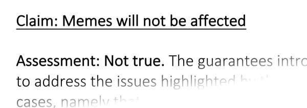 Secondo l'EPIP il fatto che i meme non siano tirati in ballo dalla riforma del copyright è una affermazione non corretta