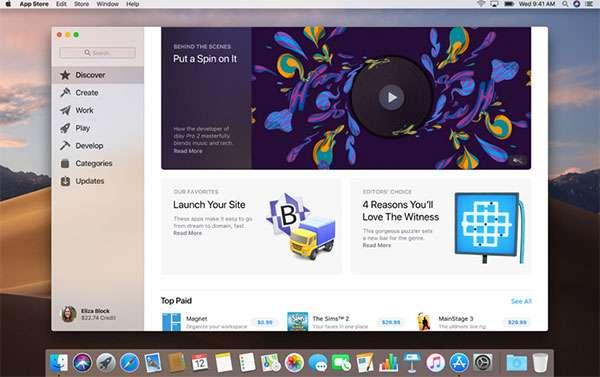 macOS Mojave: Mac App Store