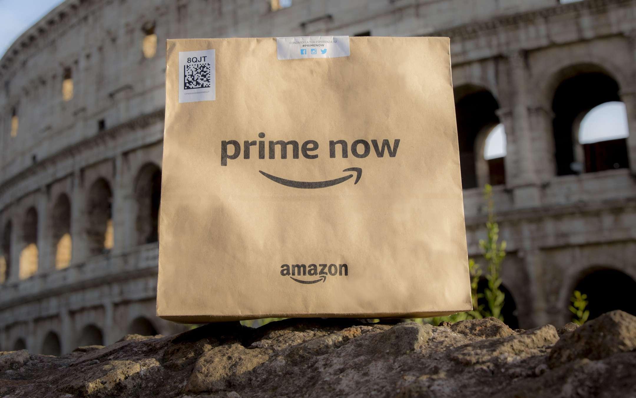 Amazon Prime Now, anche Roma è servita