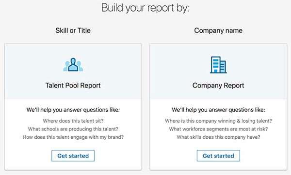 LinkedIn Talent Insights: Talent Pool e Company Report
