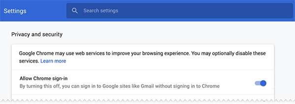 L'opzione che Google introdurrà in Chrome 70 per disattivare il comportamento oggetto di discussione