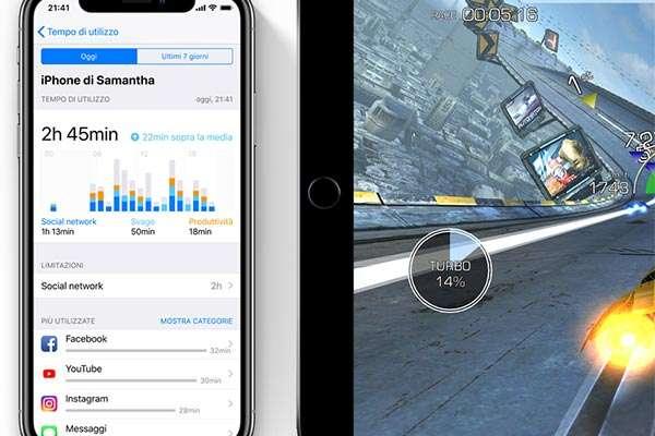 iOS 12: statistiche sul tempo di utilizzo