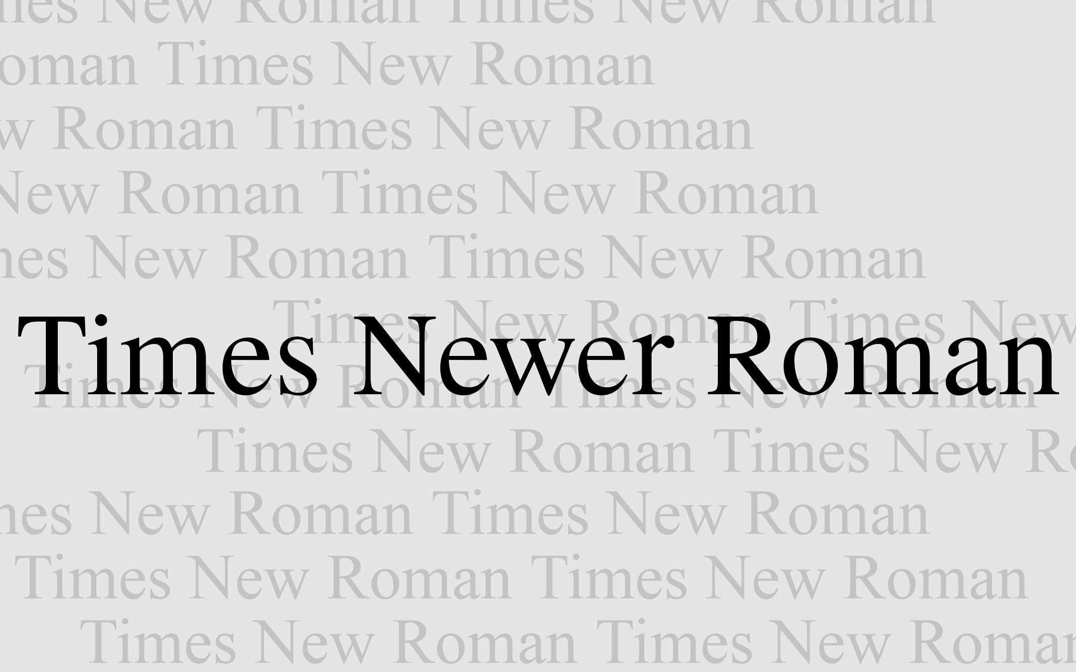 Times Newer Roman, l'altro Times New Roman
