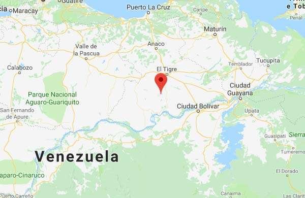 La posizione di Atapirire, in Venezuela