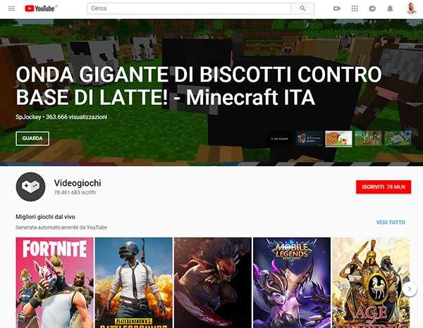 YouTube inaugura una nuova sezione tutta dedicata ai videogiochi