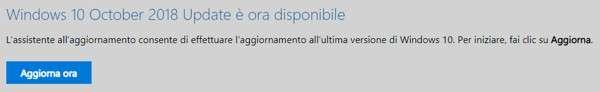 Windows 10: aggiorna ora