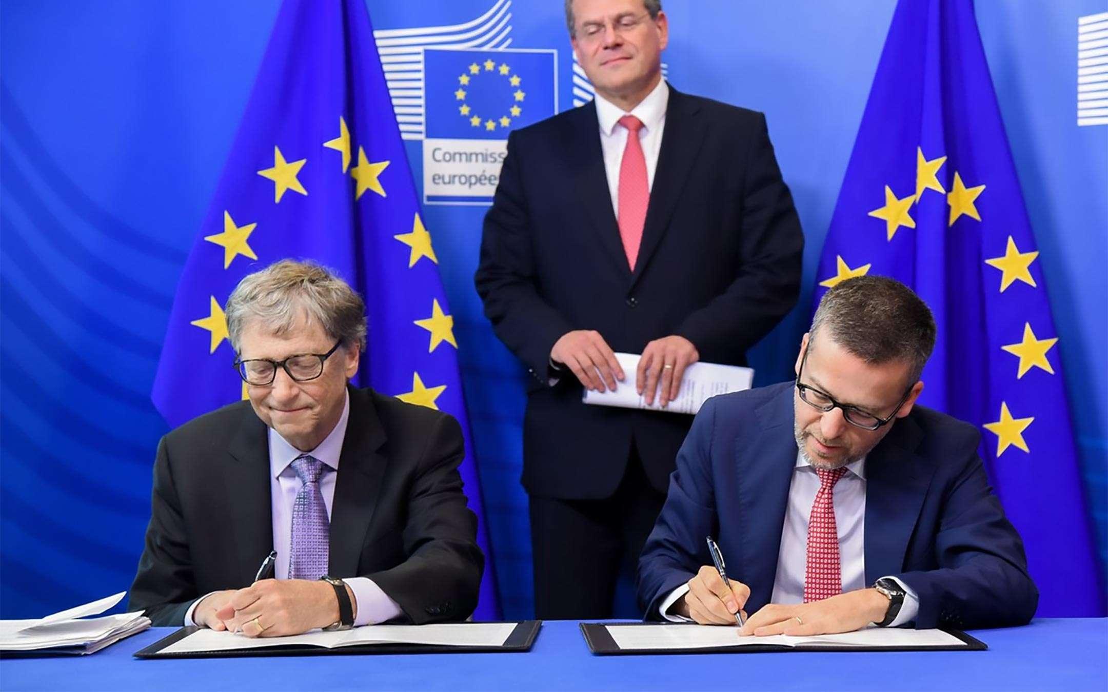 Bill Gates alla Commissione Europea