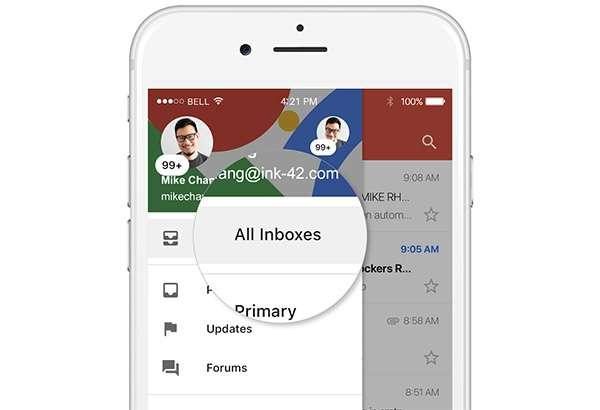 Gmail: tutte le caselle in un'unica visualizzazione anche su iOS