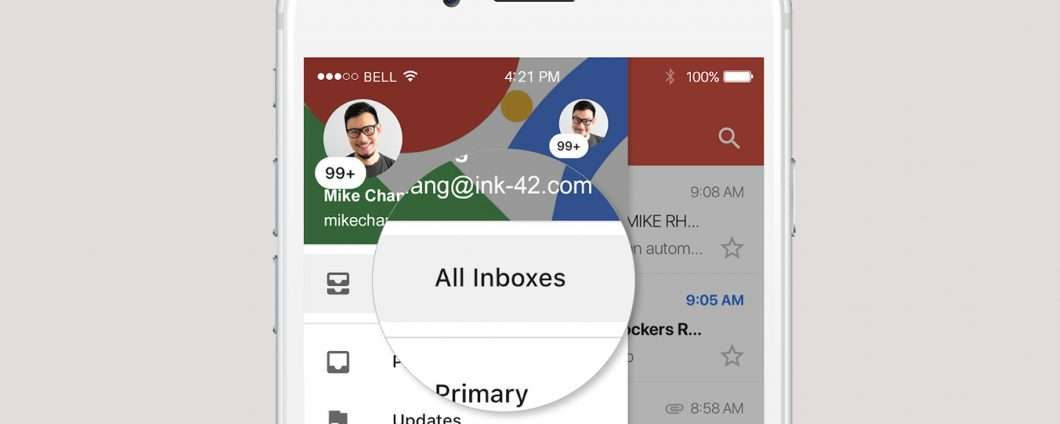 Gmail su iOS: una sola inbox per tutti gli account