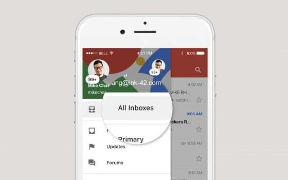 Gmail su iOS: una sola inbox per tutti gli account