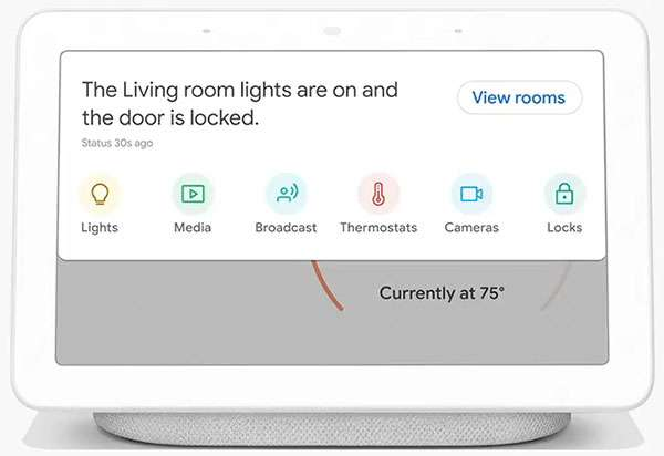 Google Home Hub: Home View