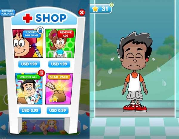 Il gioco Doctor Kids per bambini e gli acquisti in-app