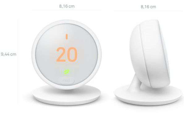 Misure Nest Thermostat E