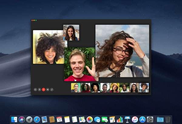 macOS Mojave 10.14.1: chiamate FaceTime di gruppo