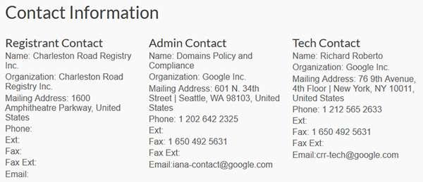 """Whois: il dominio di primo livello """"new"""" appartiene a Google"""