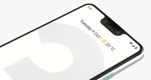 Il notch di Pixel 3 XL