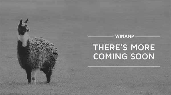 Il sito ufficiale di Winamp promette l'arrivo di importanti novità