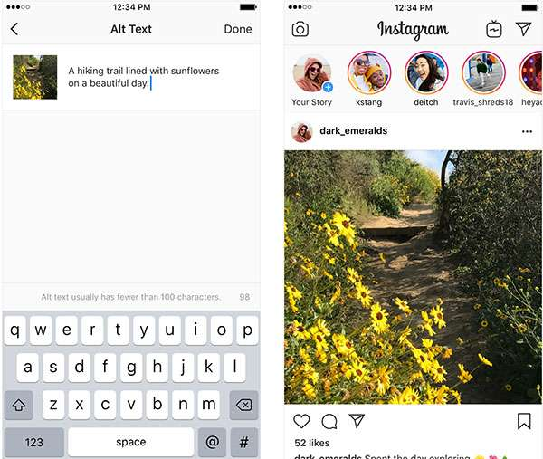 Instagram e accessibilità