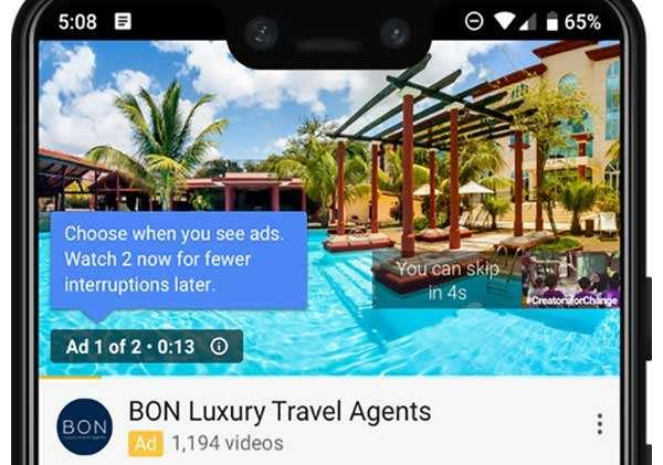 Le pubblicità pre-roll di YouTube raddoppiano con il formato Ad-pods