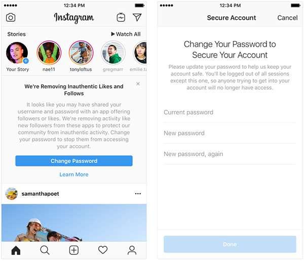 Instagram contro le attività non autentiche sulla piattaforma