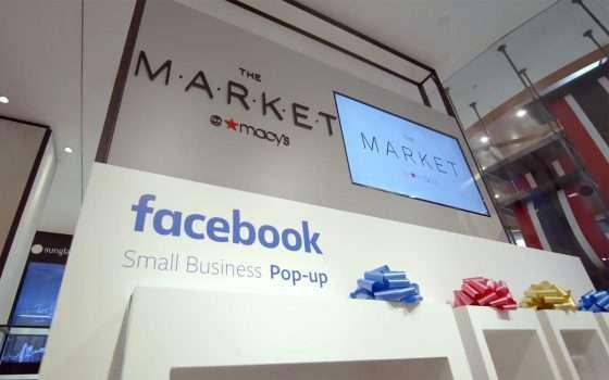 Facebook: un pop-up store oggi, un negozio domani