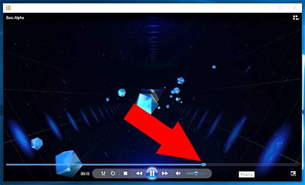 Windows Media Player, la Seek Bar