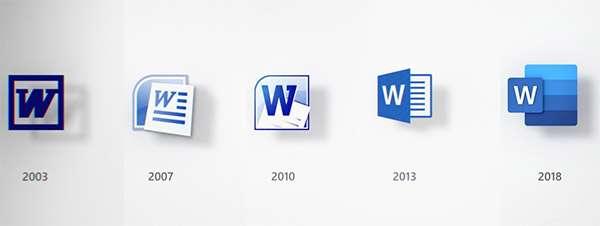 Come è cambiata l'icona di Microsoft Work nel corso degli anni