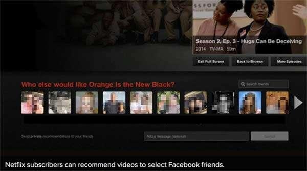 Il sistema di messaggistica integrato in Netflix e basato sull'infrastruttura di Facebook