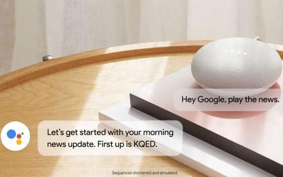Google, l'informazione è vocale e arriva da Home