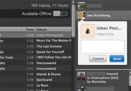 Il sistema di messaggistica integrato in Spotify e basato sull'infrastruttura di Facebook