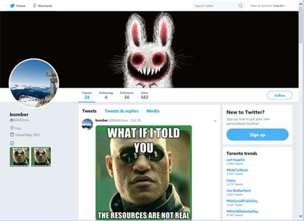 Il meme-malware su Twitter